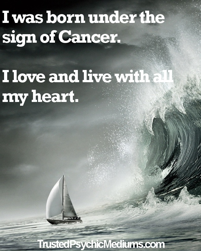 Cancer Star Sign Life Quote