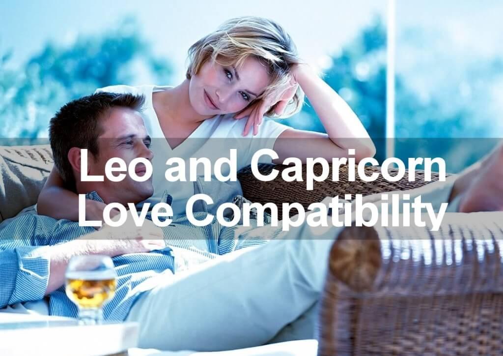 leo and capricorn love compatibility