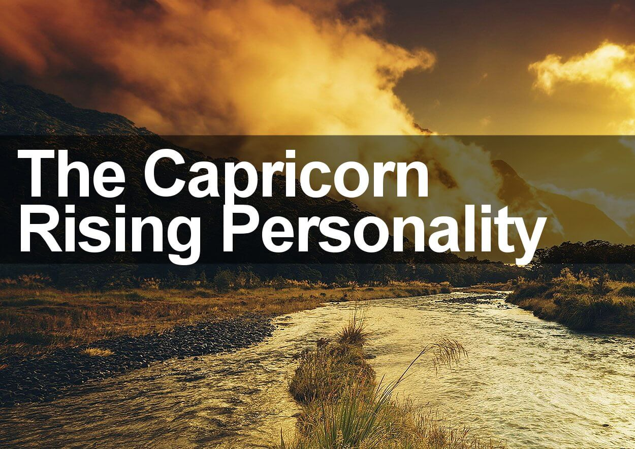 The Capricorn Rising Personality