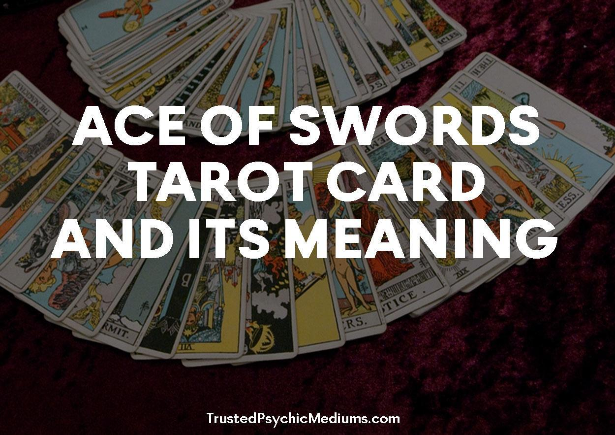 Ace of Swords Tarot Card and its Meaning