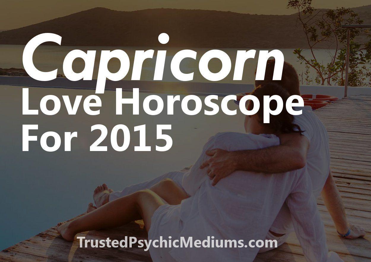 Capricorn Love Horoscope 2015