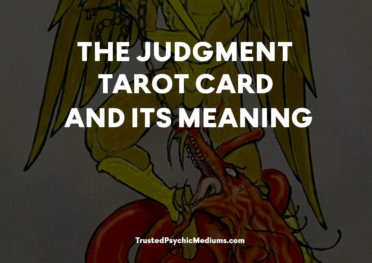 Judgment Tarot Card and its Meaning