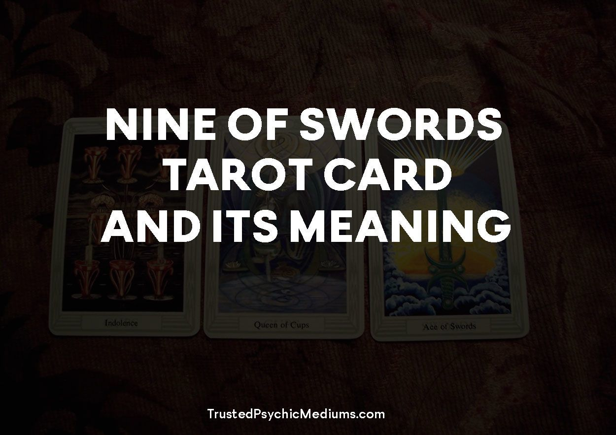 Nine of Swords Tarot Card and its Meaning