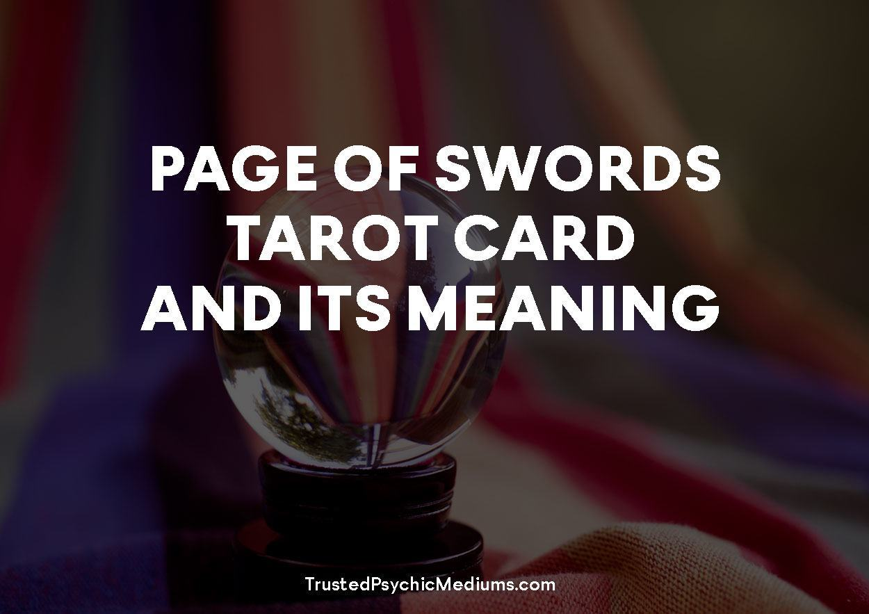 Page of Swords Tarot Card and its Meaning