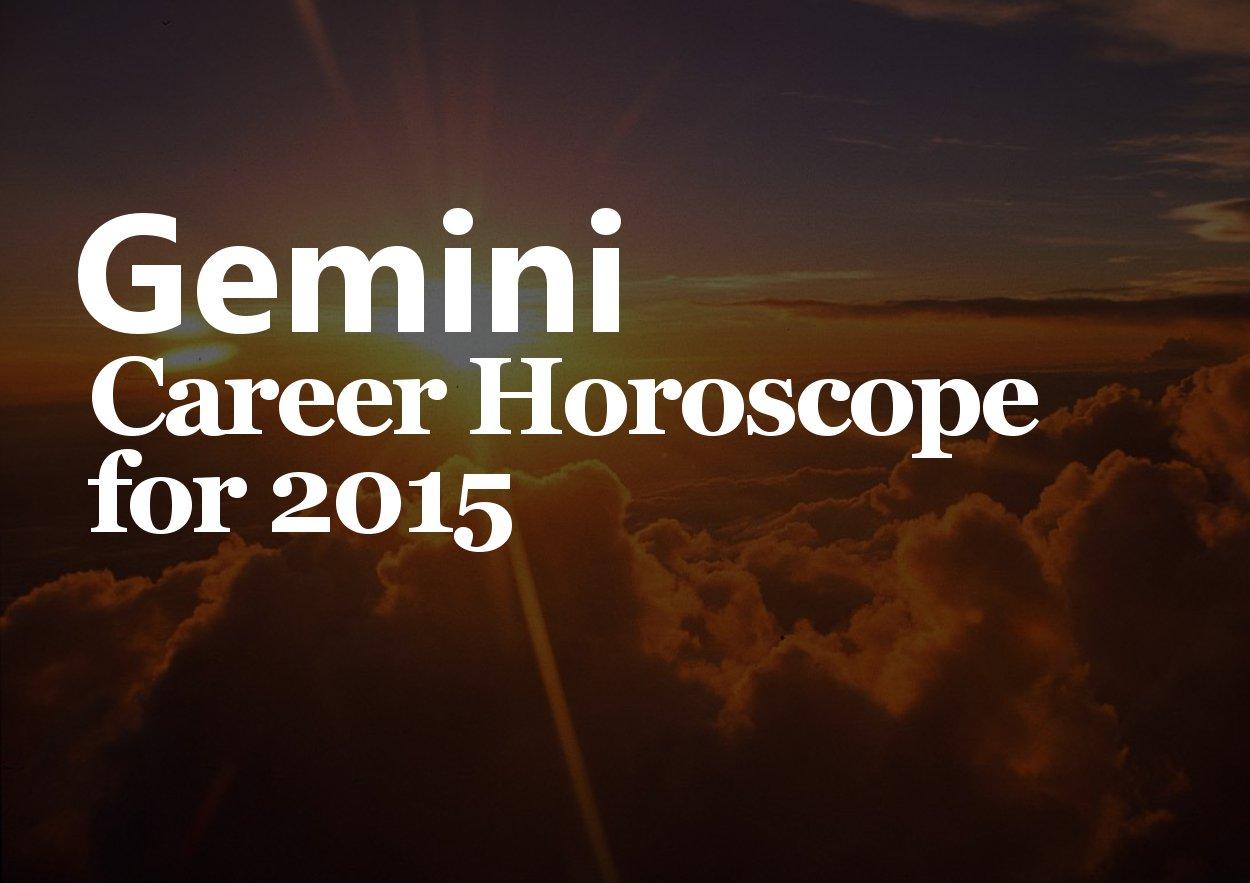 gemini career horoscope 2015