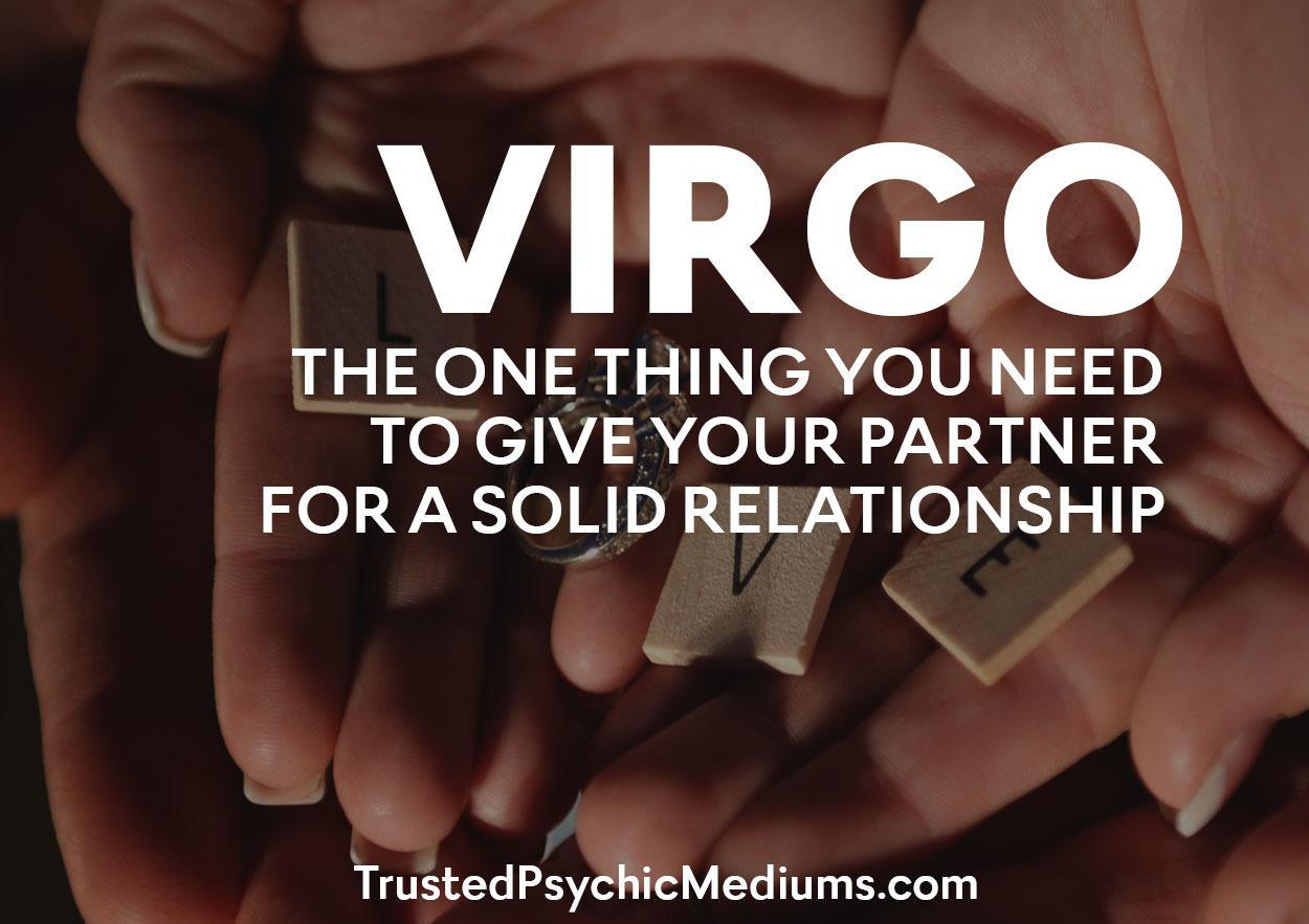 Virgo: The One Thing You Need to Give Your Partner for a Solid Relationship