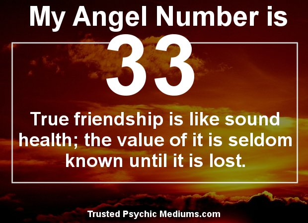 Angel Number 33 meaning