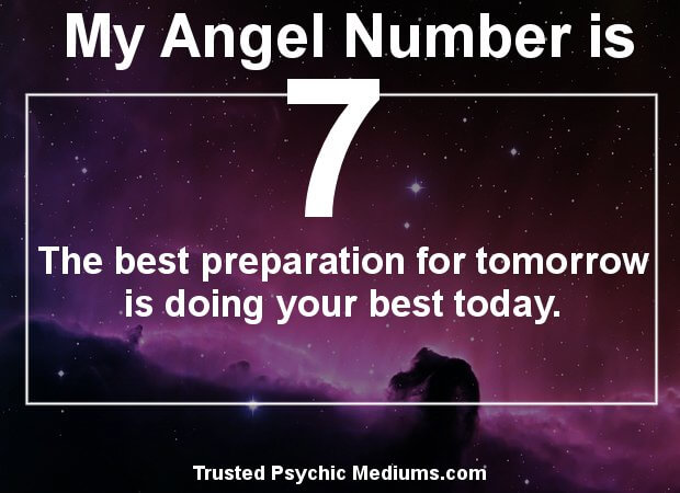 angel number 7 and its meaning