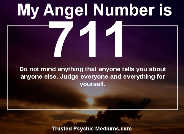Keep seeing angel number 711