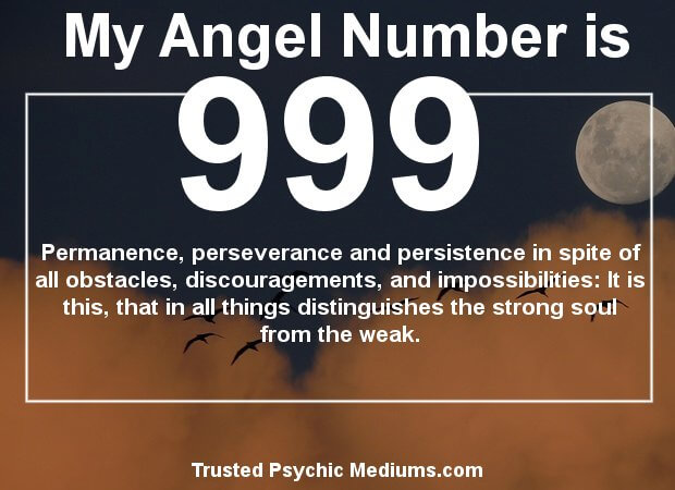 what does angel number 999 mean