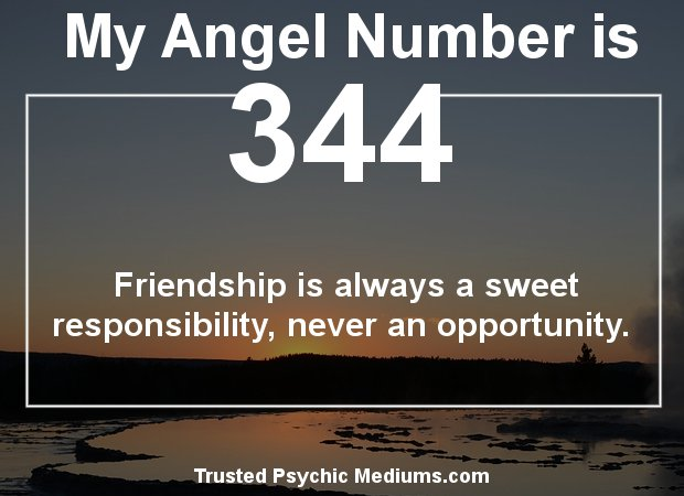 keep seeing angel number 344