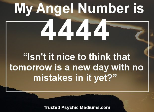 what does angel number 4444 mean?