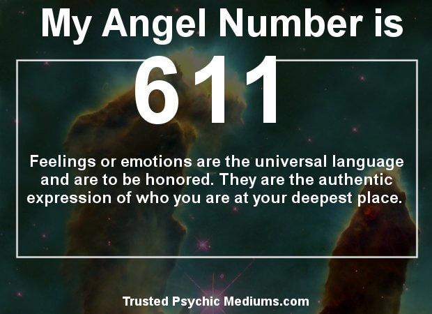 keep seeing angel number 611?