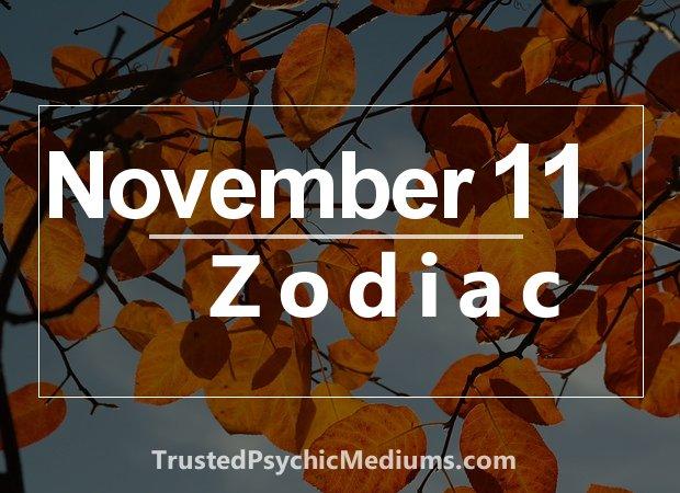 November 11 Zodiac