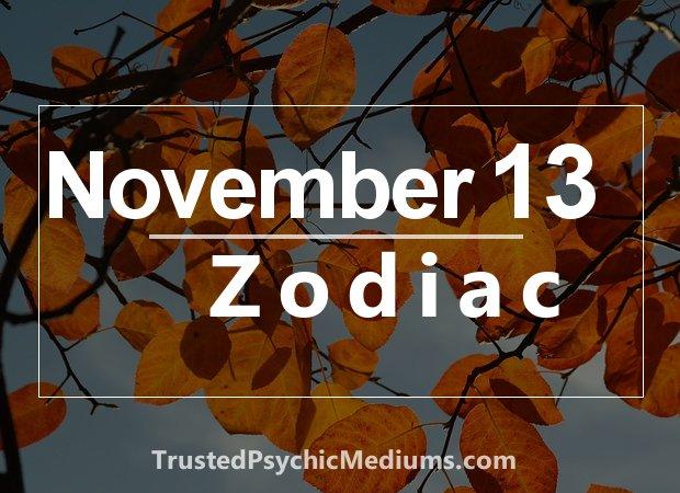 November 13 Zodiac