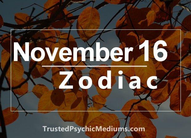 November 16 Zodiac