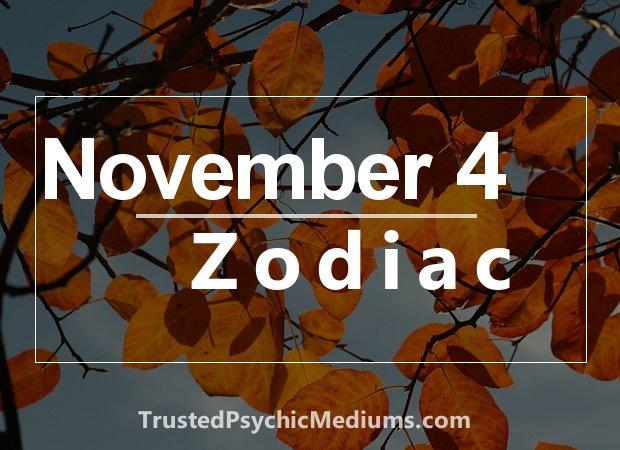 November 4 Zodiac