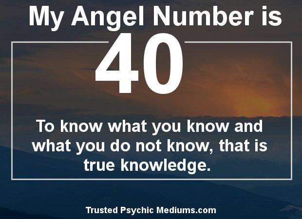keep seeing angel number 40