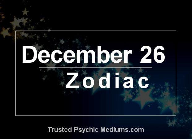December 26 Zodiac
