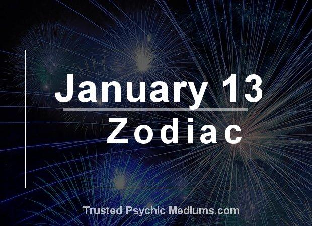 January 13 Zodiac