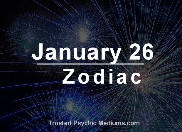 January 26 Zodiac