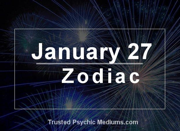 January 27 Zodiac