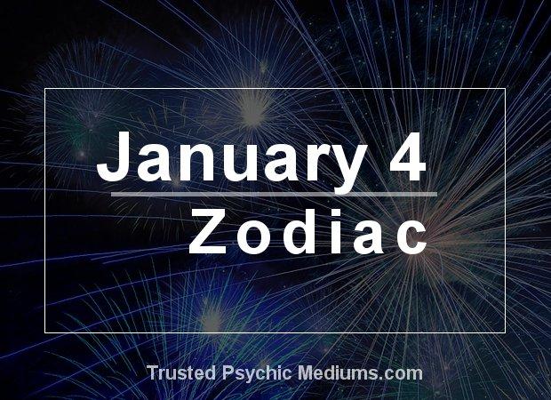 January 4 Zodiac