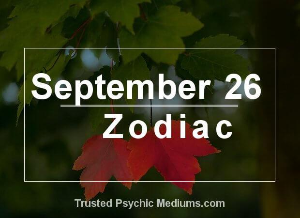 September 26 Zodiac