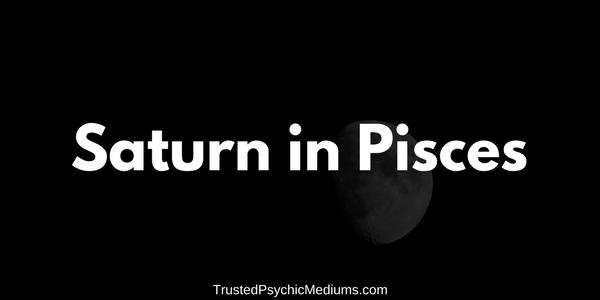 Saturn in Pisces