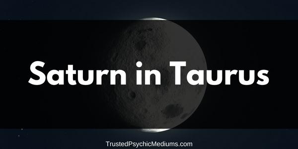 Saturn in Taurus