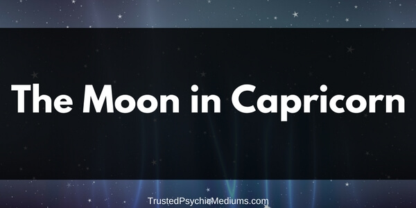The Moon in Capricorn