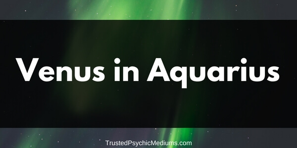 Venus in Aquarius