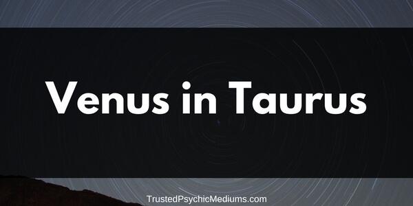 Venus in Taurus