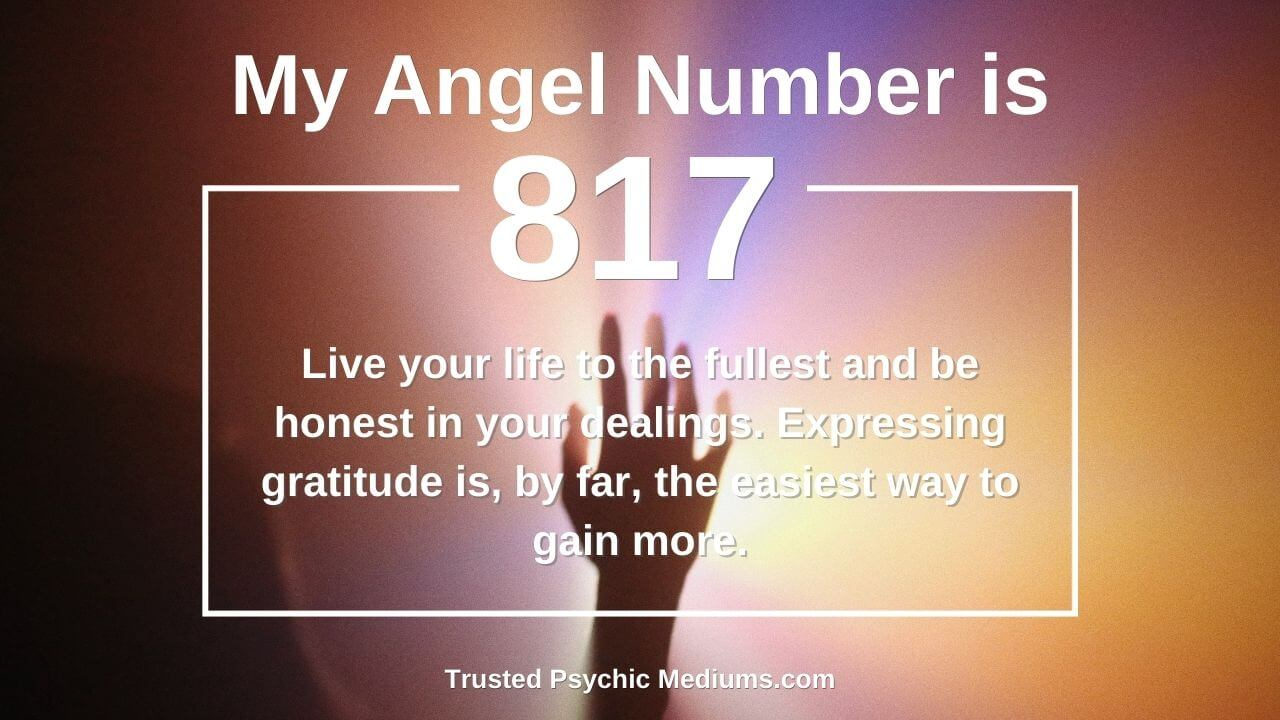 Not many people know these facts about Angel Number 817