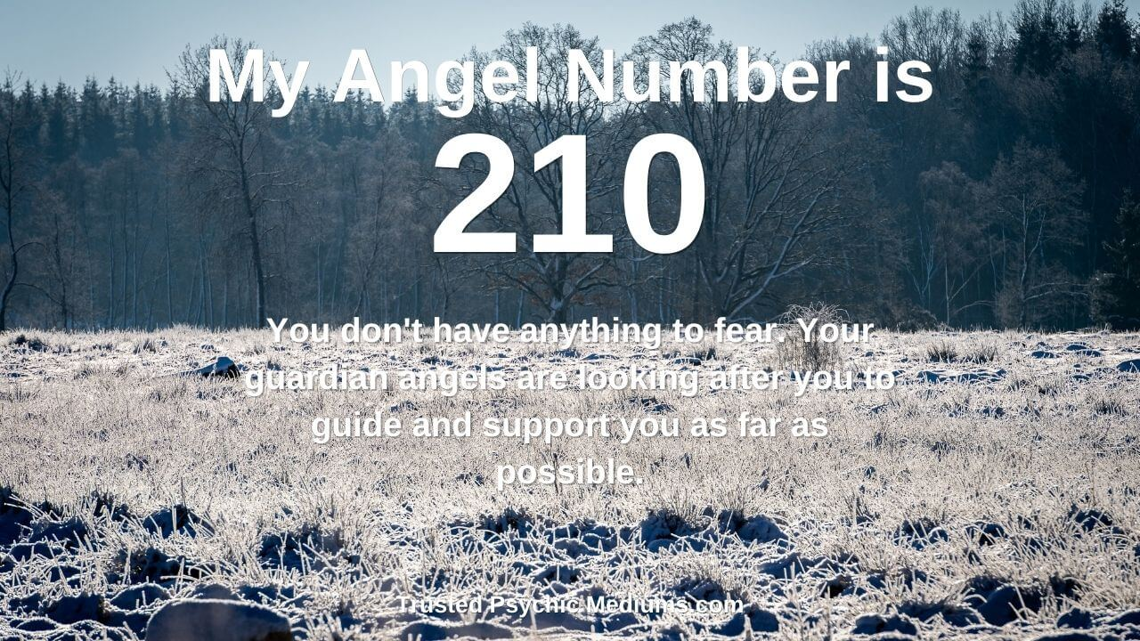 Angel Number 210 is a message from your angels