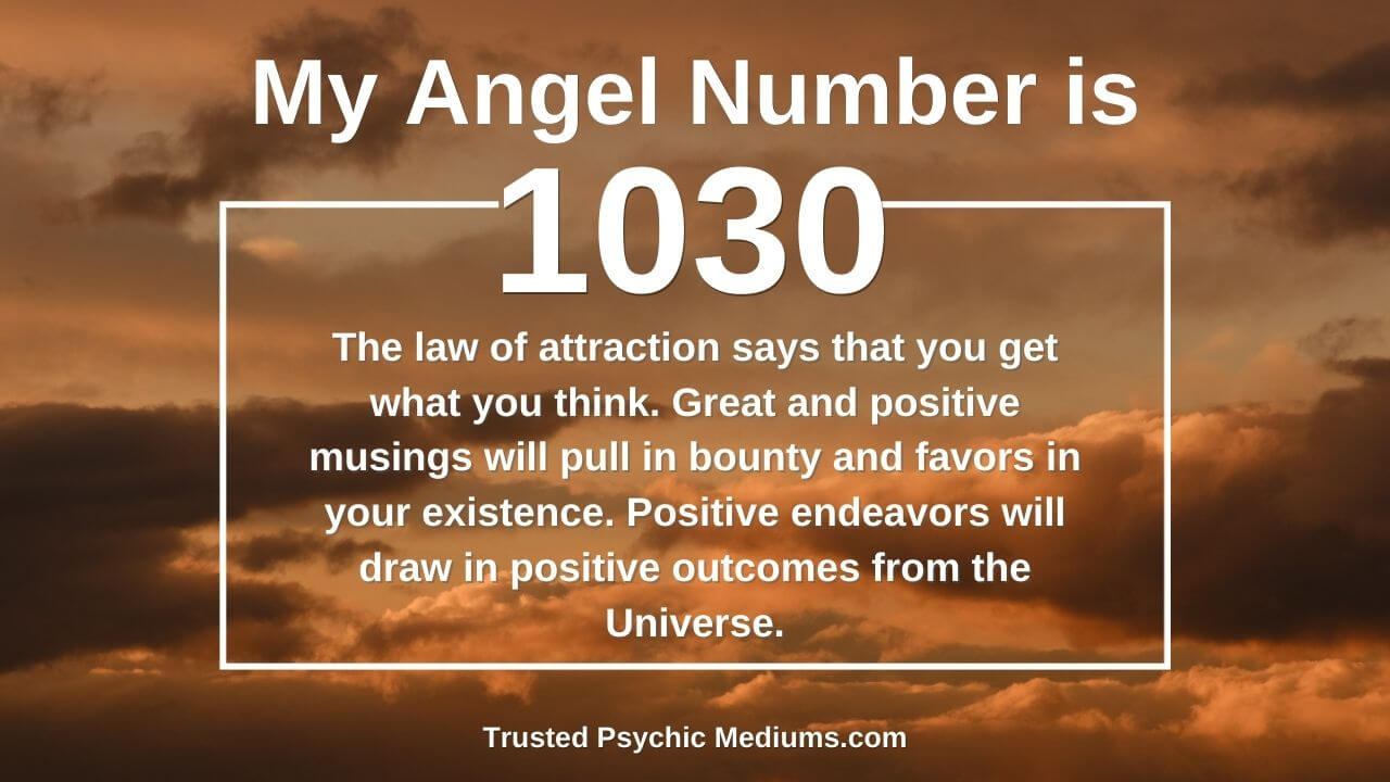 Angel Number 1030 and its meaning