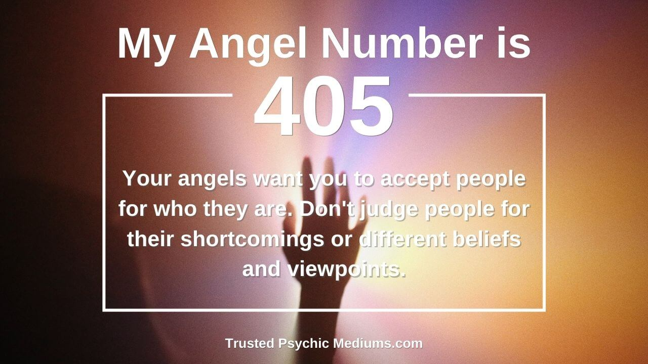 Angel Number 405 wants you to embrace the light in your life