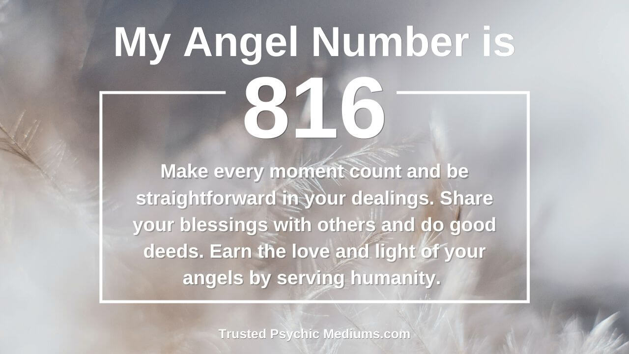 Angel Number 816 wants you to embrace the light. Discover how…