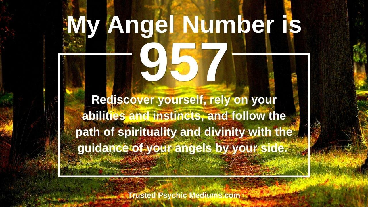 Angel Number 957 is a divine message from the angels.