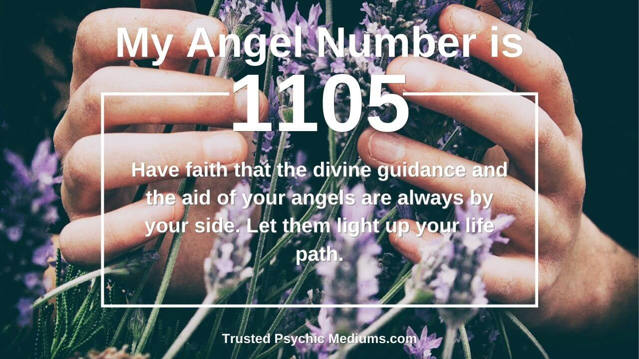 Angel Number 1105 is a message from your guardian angels.