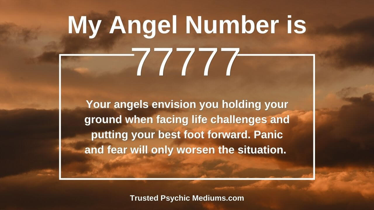 Angel number 77777 and it's meaning
