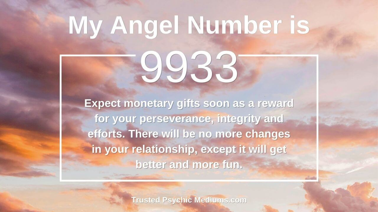Angel Number 9933 and it's meaning