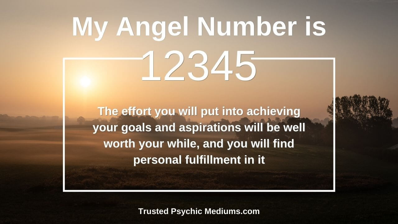 Angel Number 12345 and it's meaning